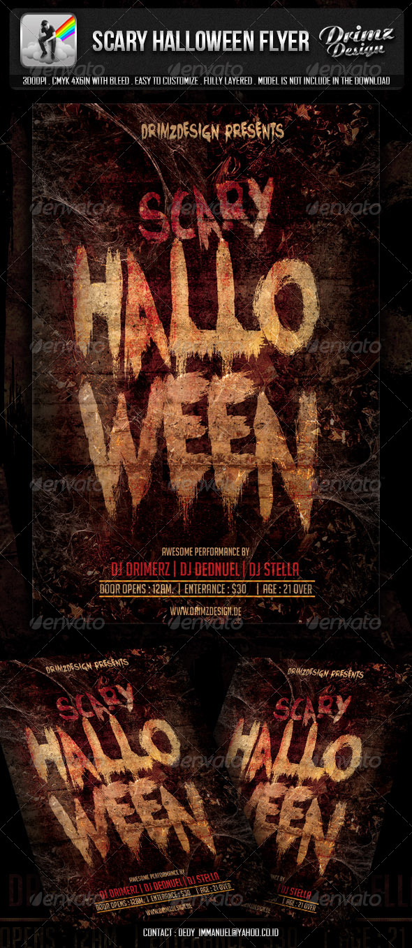 GraphicRiver Scary Halloween Flyer 5604185