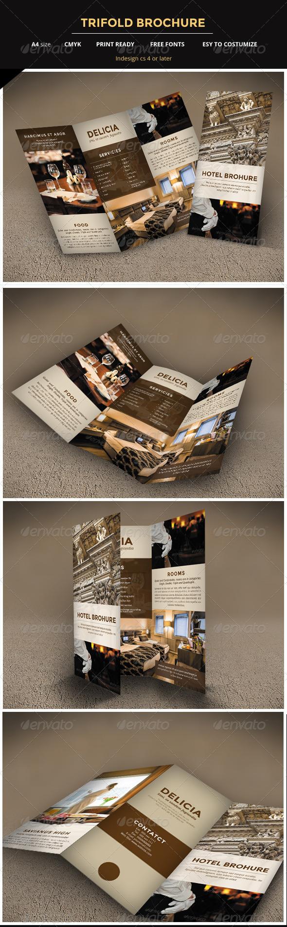 GraphicRiver Hotel Trifold Brochure 5738932