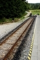 Narrow Railroad Track on Countryside - PhotoDune Item for Sale
