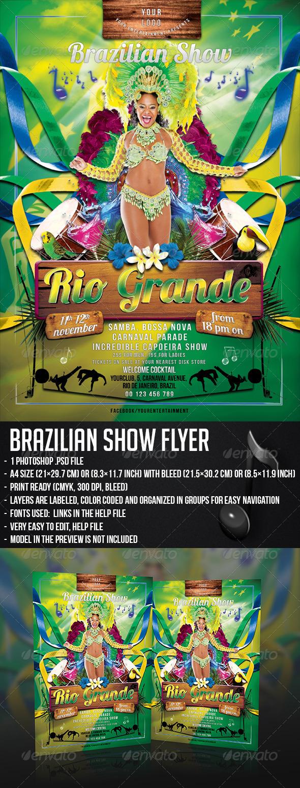 GraphicRiver Brazilian Show Flyer 5667221