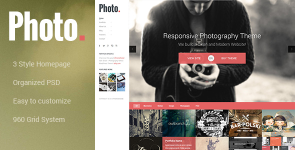 Photo - Photography PSD Template -
