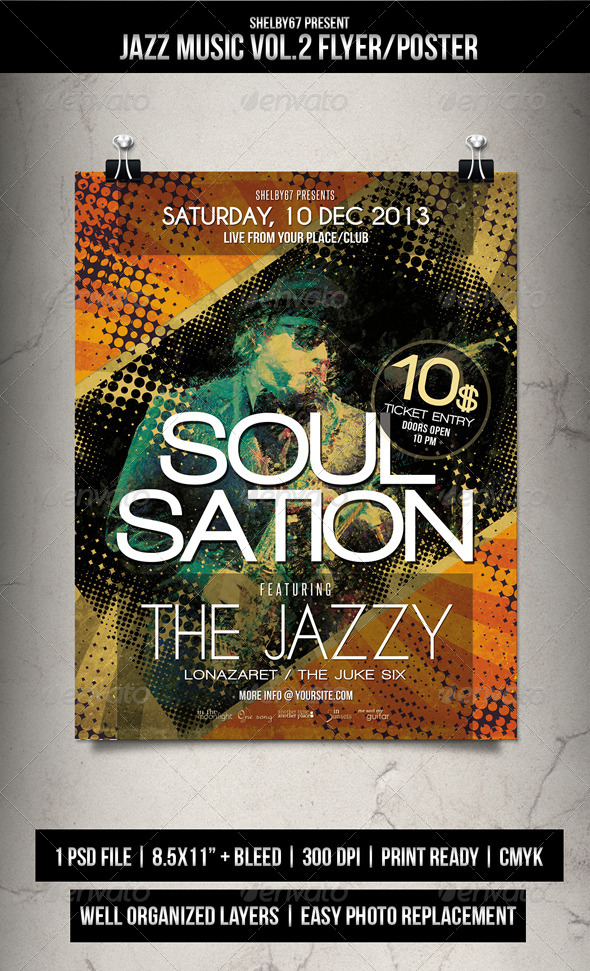 Jazz Music Flyer / Poster Vol.2 - GraphicRiver