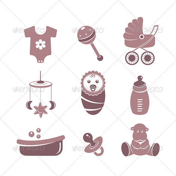 GraphicRiver Baby Vector Icons 5739126
