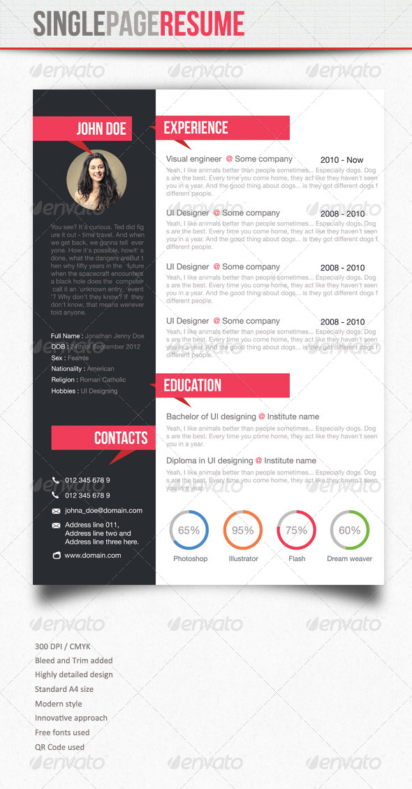 GraphicRiver Simple Resume 5739217