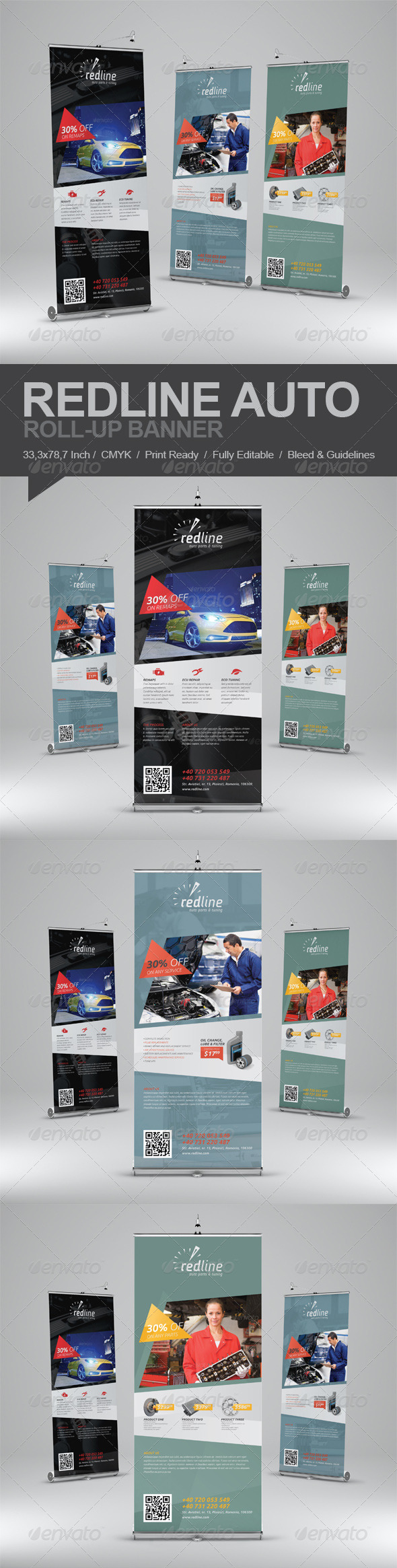 GraphicRiver Redline Auto Roll-Up Banner 5739342