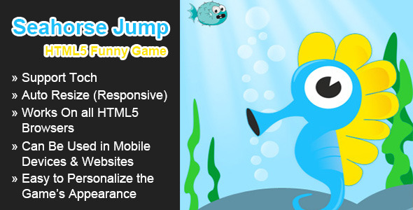 CodeCanyon Seahorse Jump Funny HTML5 Game 5739371