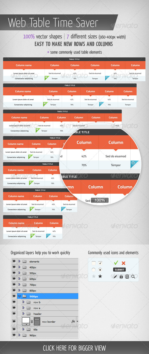 GraphicRiver Web Table Time Saver 4369615