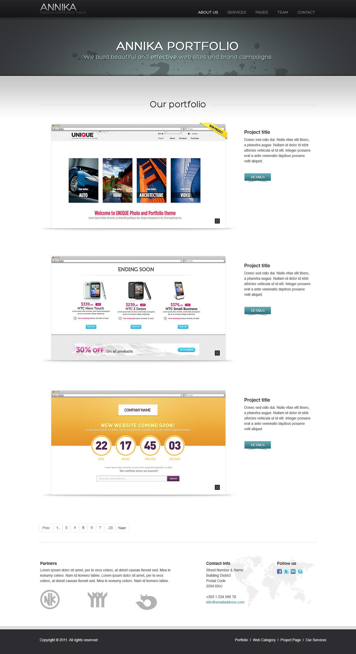 Annika - Premium Portfolio or Business theme