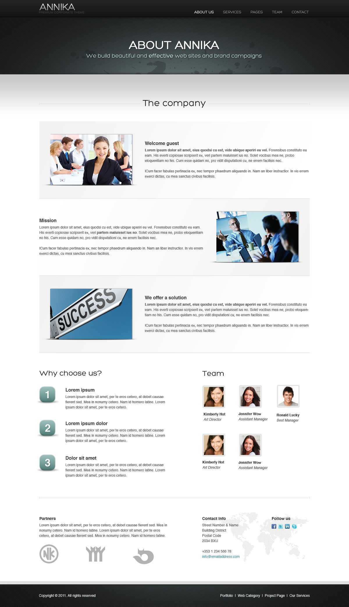 Annika - Premium Portfolio or Business theme