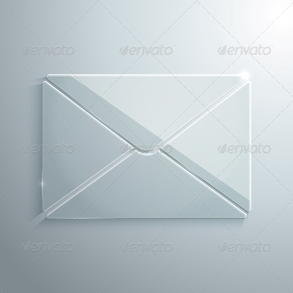 GraphicRiver Glass Icon of Envelope 5739448