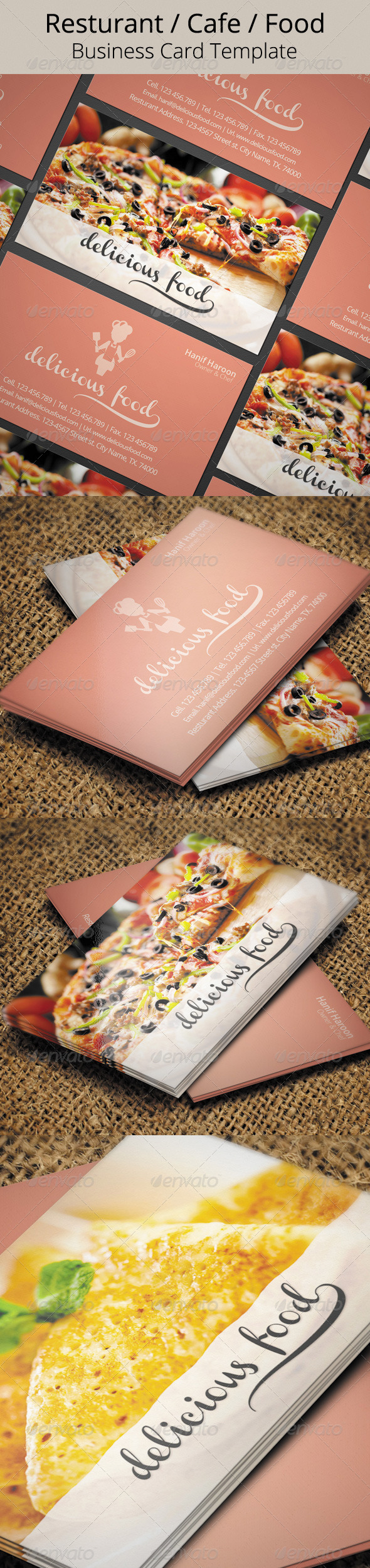 GraphicRiver Delicious Food Business Card 5739467