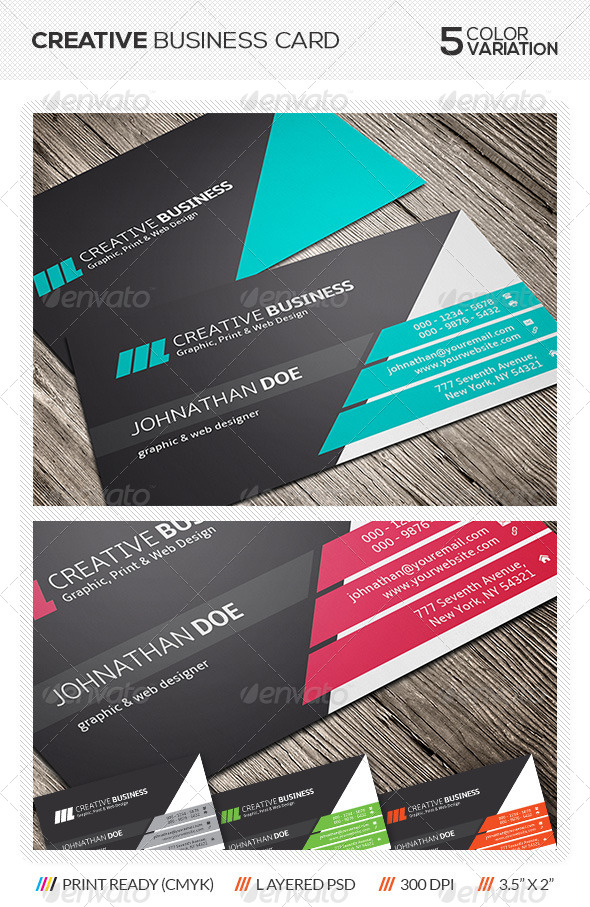 GraphicRiver Creative Business Card Design 5739485