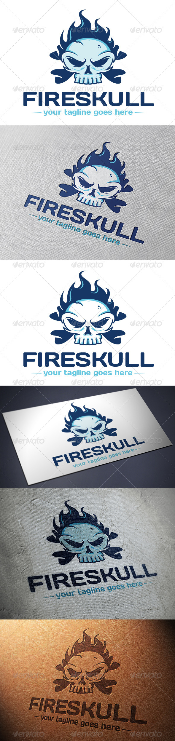 Fire Skull Logo Template - Humans Logo Templates