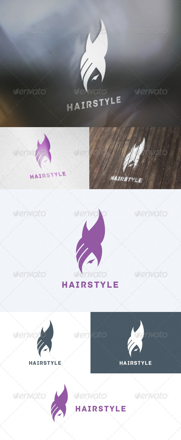 GraphicRiver Hairstyle Logo 5739518