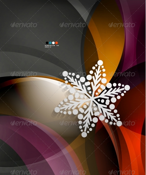 GraphicRiver Abstract Christmas Wave Snowflake Background 5739529