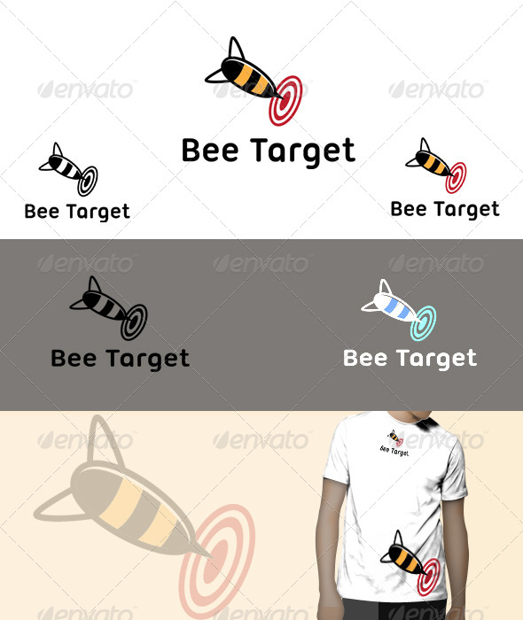 GraphicRiver Bee Target Logo 5724427
