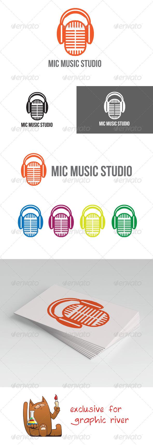 GraphicRiver Mic Music Studio Logo 5739645