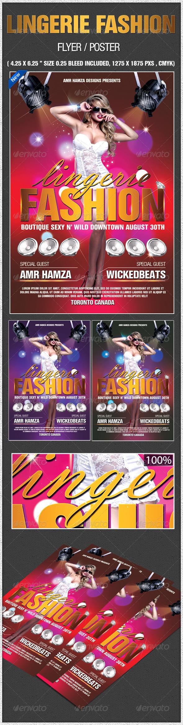 Lingerie Fashion Flyer Poster | GraphicRiver