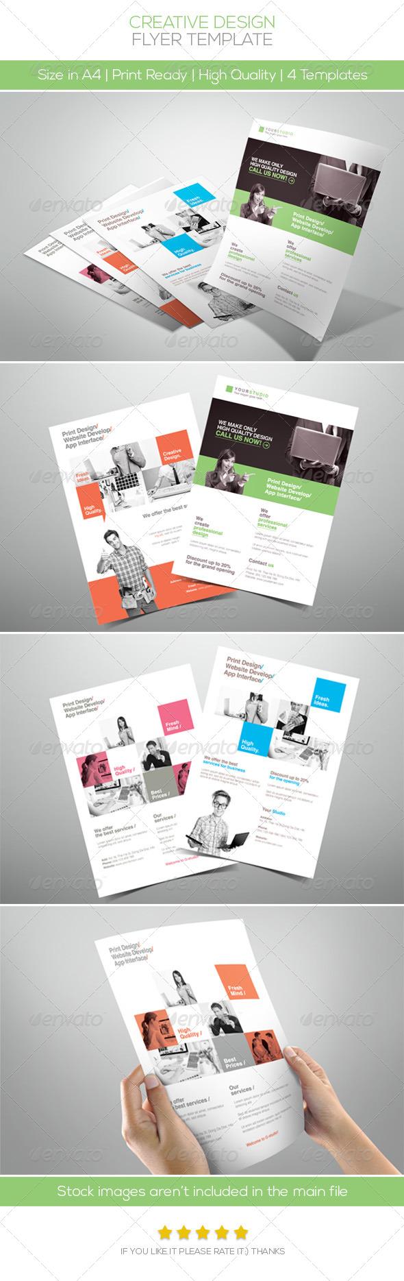 GraphicRiver Creative Design Company Flyer 5739661