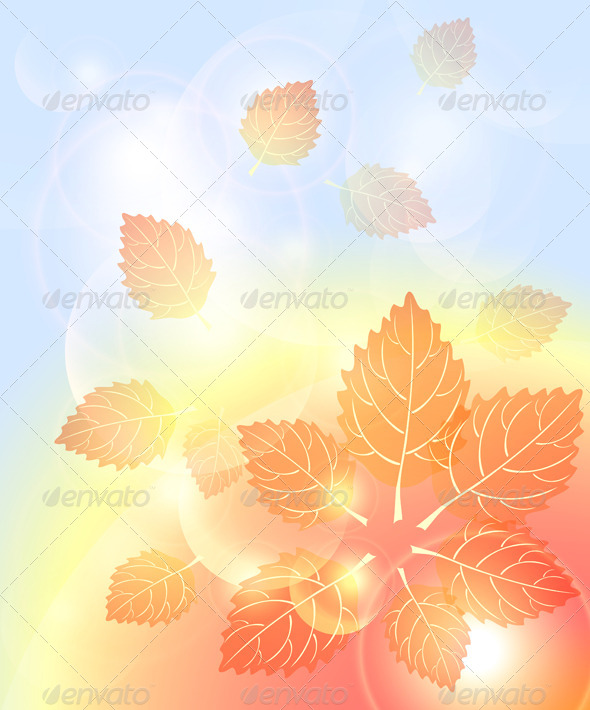 GraphicRiver Abstract Autumn Background with Leaves 5739922