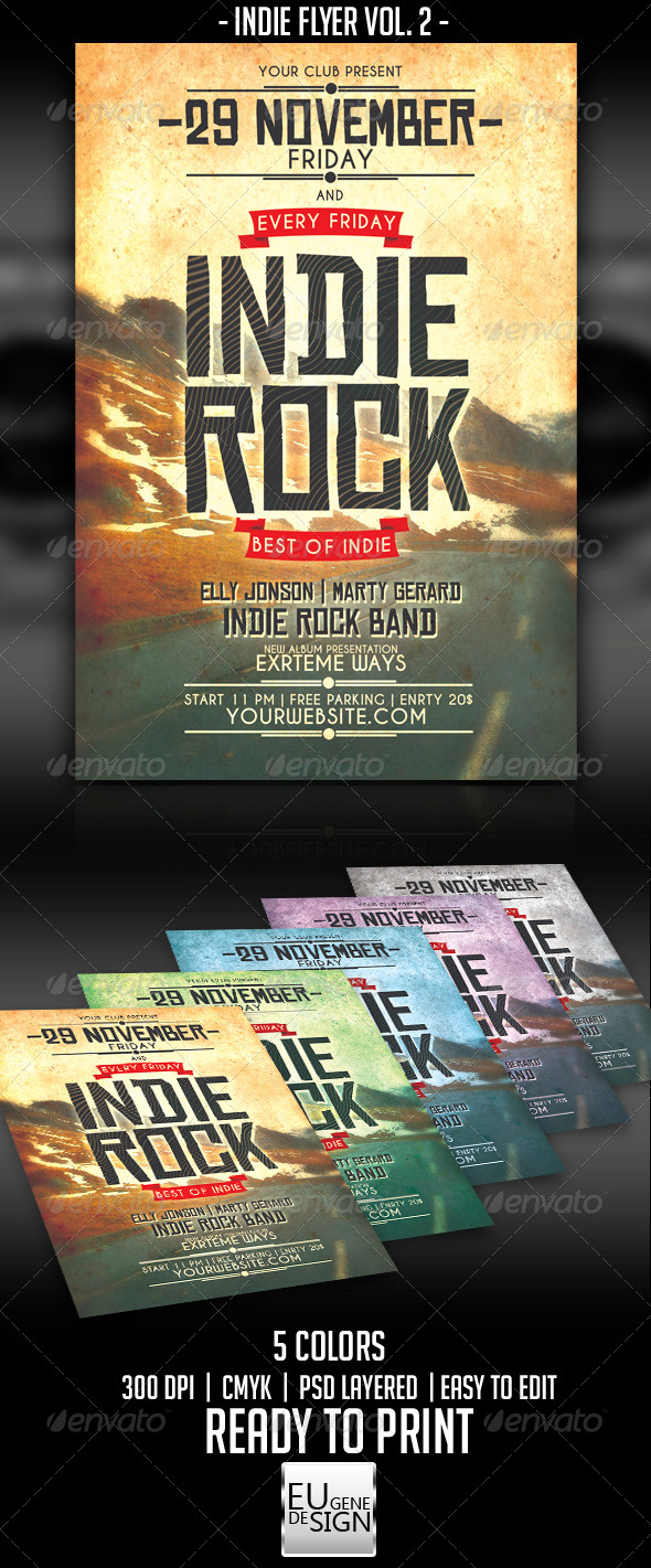 GraphicRiver Indie Flyer Vol 2 5739956