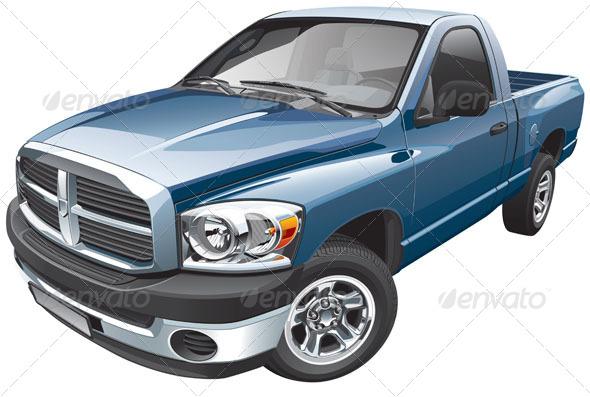 GraphicRiver American Full-size Pickup 5740074