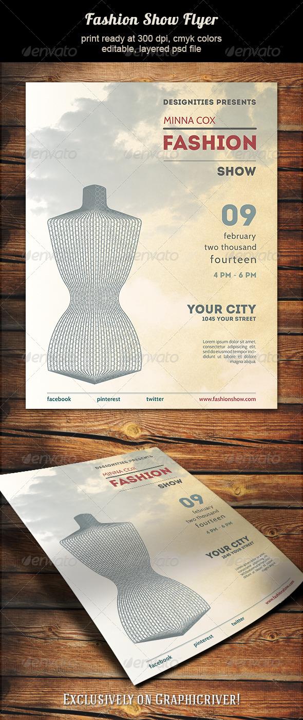 GraphicRiver Fashion Show Flyer 5740177