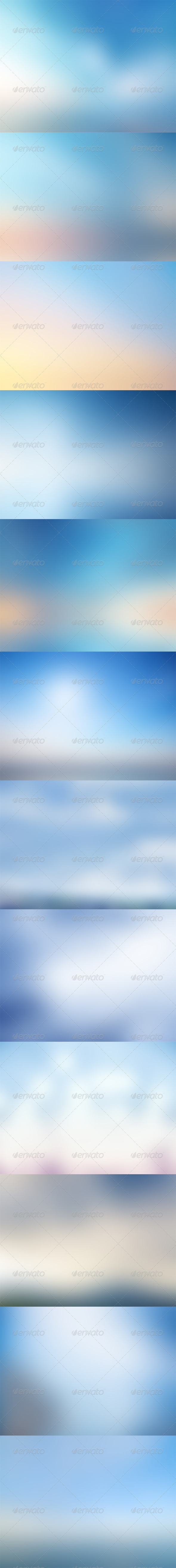 GraphicRiver Light Blue Backgrounds 5740197