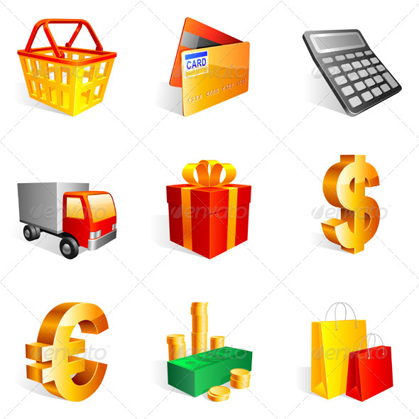 GraphicRiver Shopping Icons 5740202