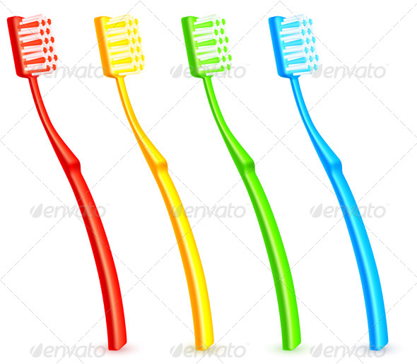 GraphicRiver Color Toothbrushes 5740207