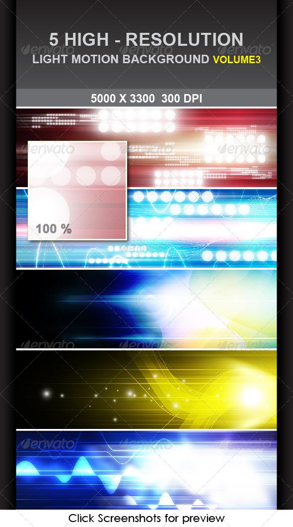 5 Light Motion Background Volume 3