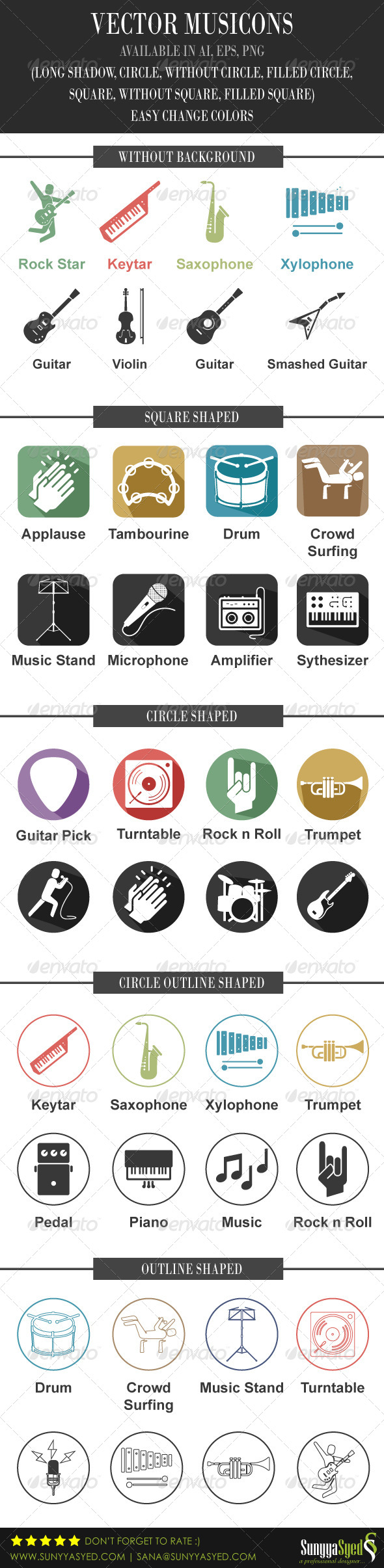 GraphicRiver Vector Musicons 5740211