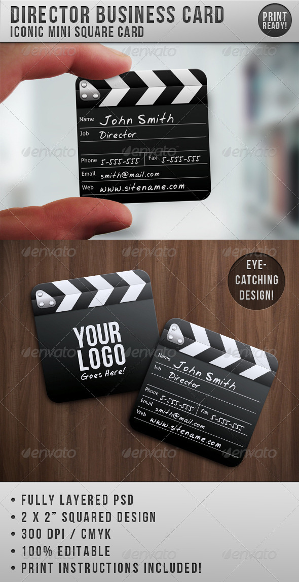 Director Mini Squared Business Card