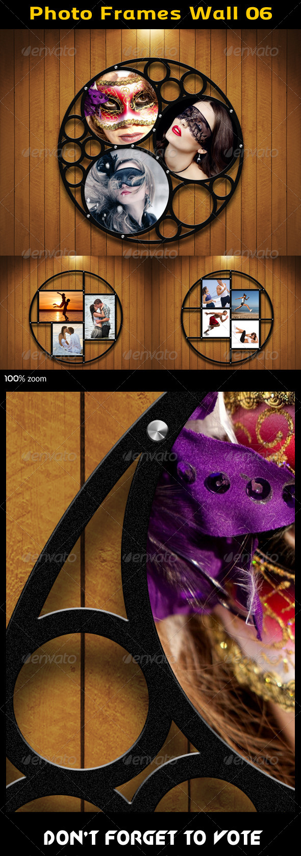 GraphicRiver Photo Frames Wall 06 5740533