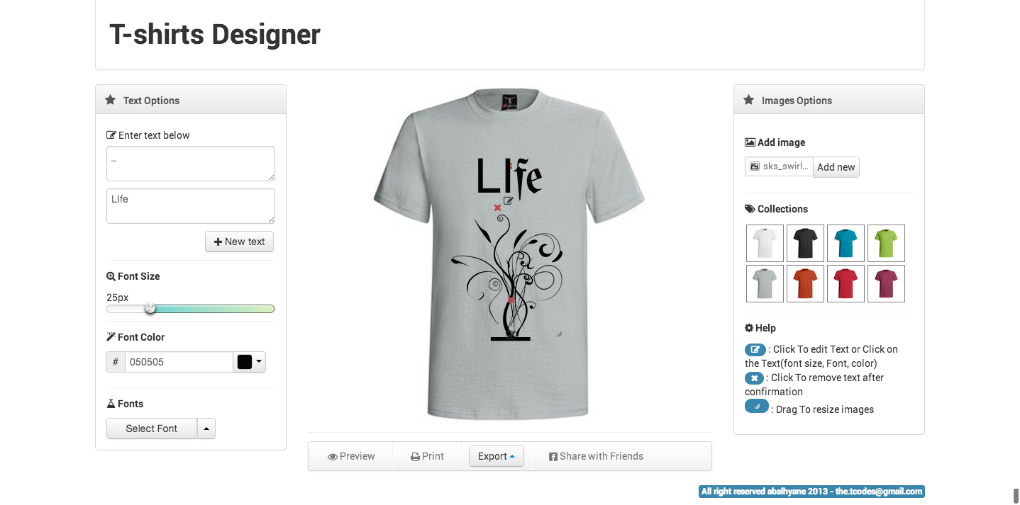T shirt designer by thecoder15 codecanyon for T shirt designer plugin