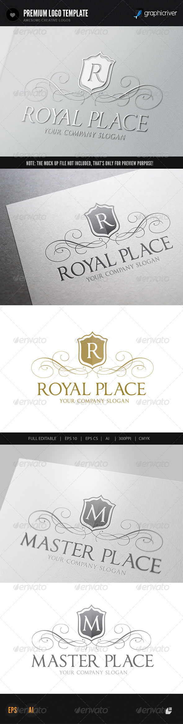 GraphicRiver Royal Place Logo V1 5740594