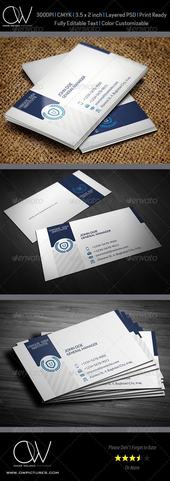 GraphicRiver Corporate Business Card Vol.33 5740833