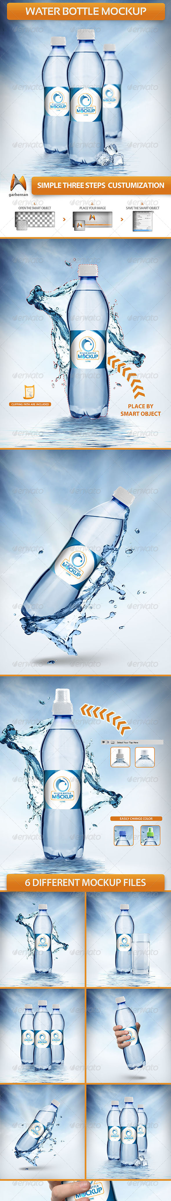 GraphicRiver Water Bottle Mockup 5740887