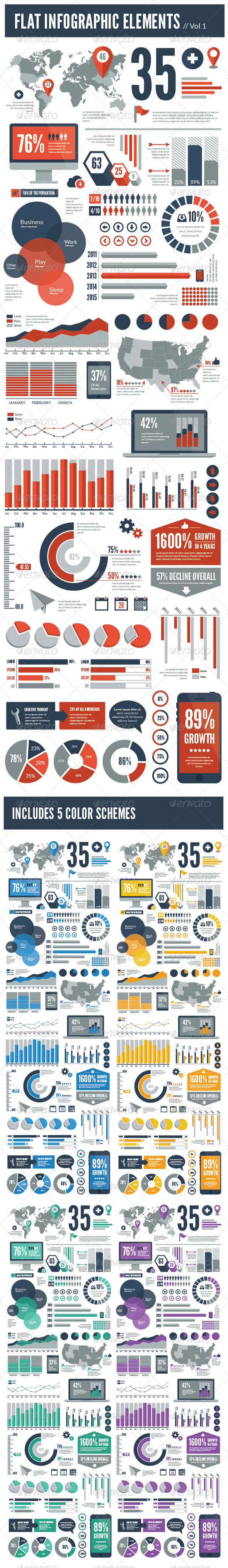 GraphicRiver Flat Vector Infographic Elements 5741110