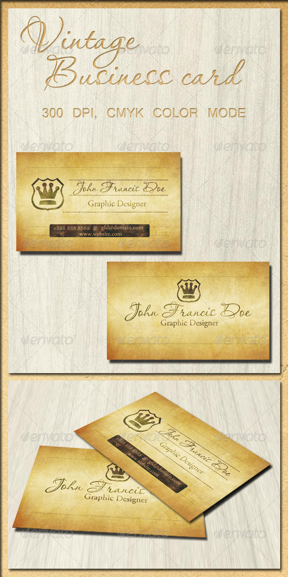 GraphicRiver Vintage Business Card 5671712