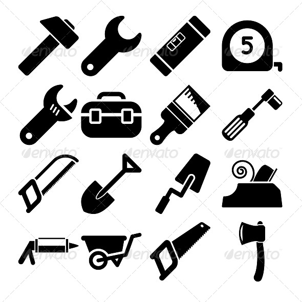 GraphicRiver Tools Icons 5741180