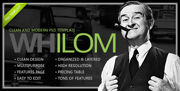 ThemeForest Whilom PSD Template 5728425