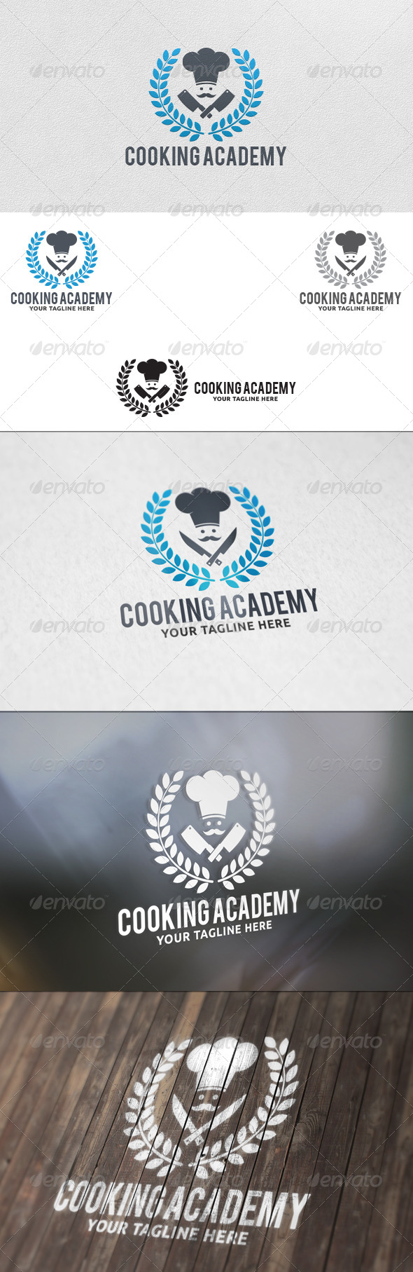 GraphicRiver Cooking Academy Logo Template 5741277
