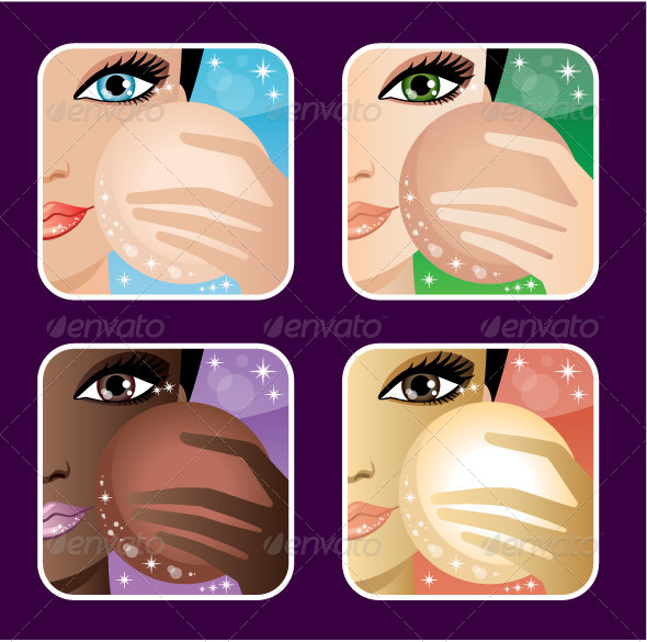 GraphicRiver Set of Makeup Application Icons 5741280