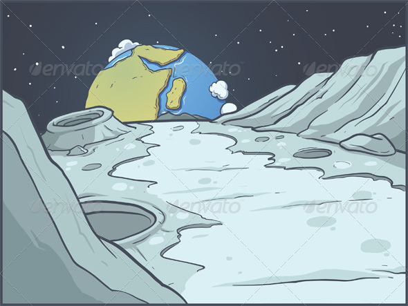 GraphicRiver Lunar Landscape 5741404