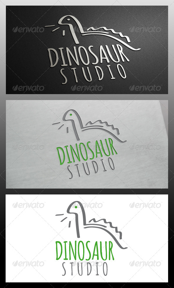 GraphicRiver Dinosaur Logo Template 5741453