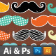 Vintage Mustaches - GraphicRiver Item for Sale
