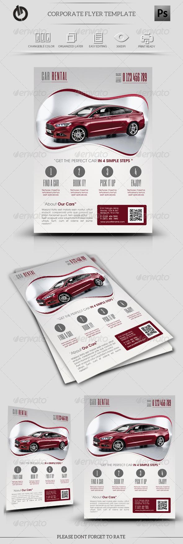 GraphicRiver Car Rental Flyer Template 5741529