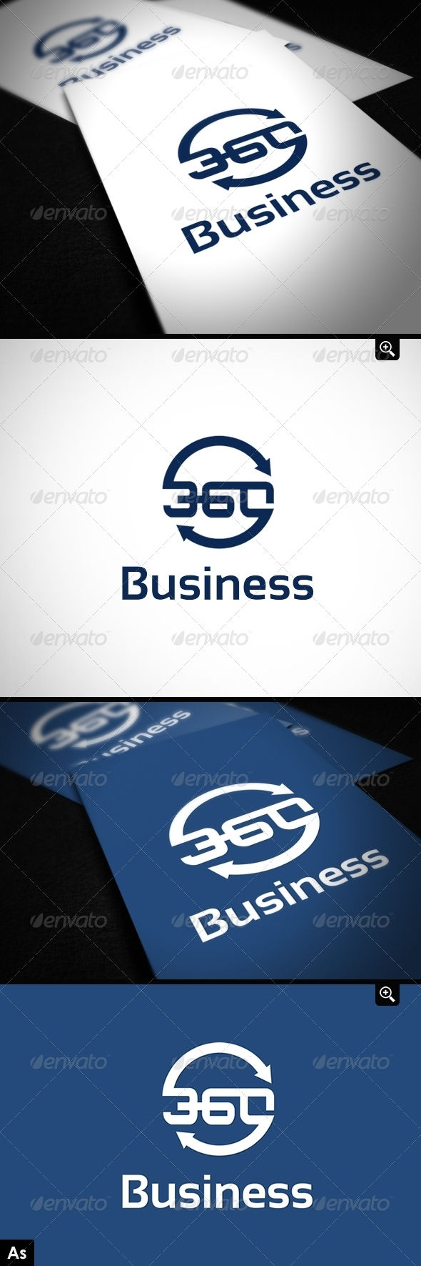 Business 360 Logo Template  - Numbers Logo Templates