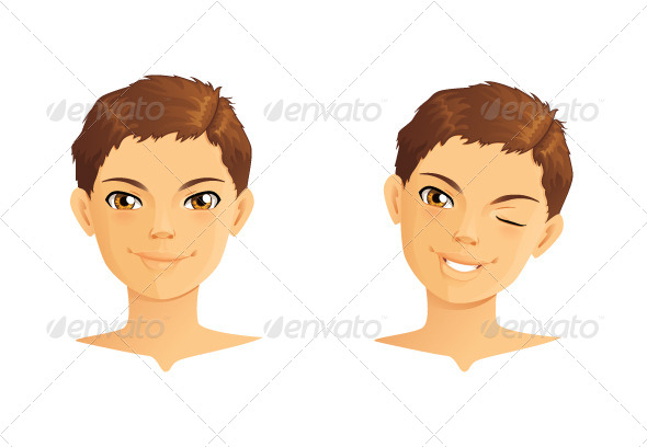 GraphicRiver Boy Winking and Smiling 5741541